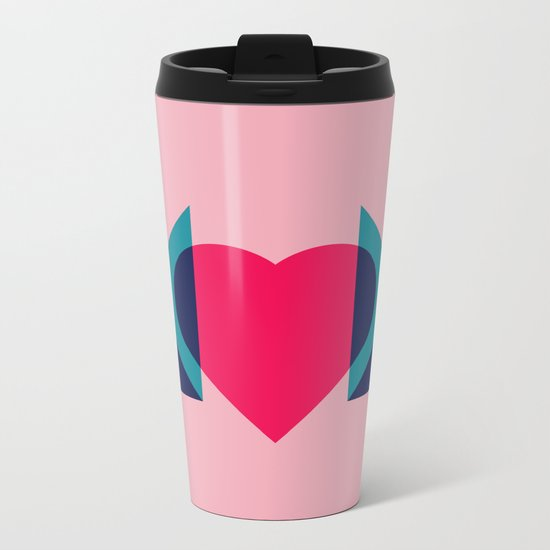 HEART MOM Metal Travel Mug