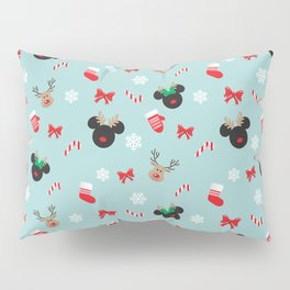 Christmas Mouse Ears Reindeers Pillow Sham