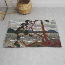 Tom Thomson - The West Wind - Canada, Canadian Oil Painting - Group of Seven Rug