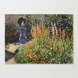 Claude Monet - The Artist's Garden At Vetheuil Canvas Print