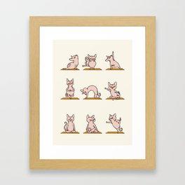 Sphynx Cat Yoga Framed Art Print