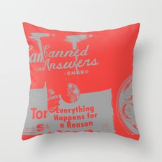 Canned Answers Throw Pillow