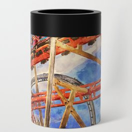 Fun on the roller coaster, close up Can Cooler