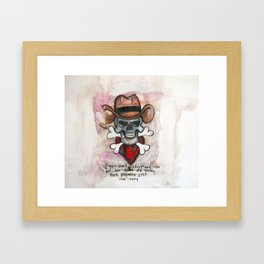 Cowboy Skull, A tribute to Waylon Jennings Framed Art Print