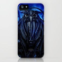 Mechanical Owl - Blue iPhone Case