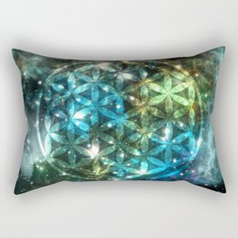 Flower of Life Nebula sky 150916 Rectangular Pillow