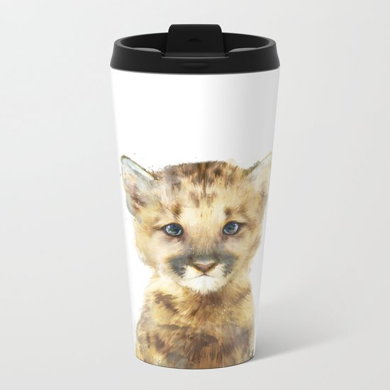 Little Mountain Lion Metal Travel Mug