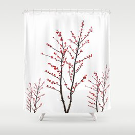 red beans branch Shower Curtain