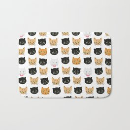 good kitty-bad kitty pattern Bath Mat