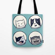 CatStronauts Team Heads Tote Bag