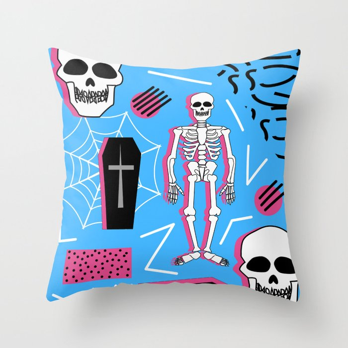 halloween memphis style throw pillow