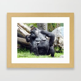What Are You Doing Framed Art Print
