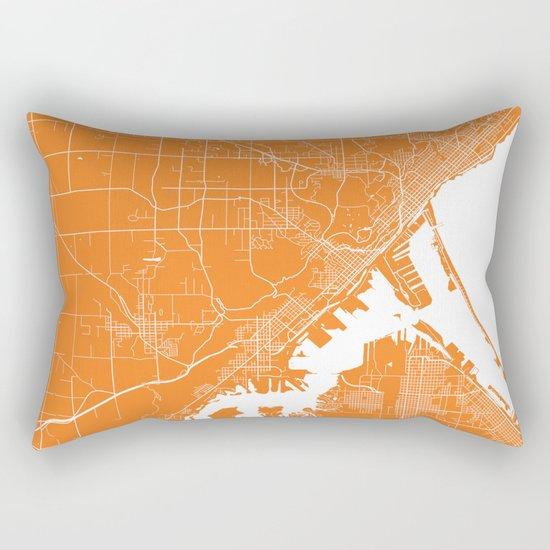 Duluth map orange Rectangular Pillow