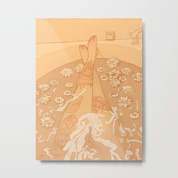 Flower Bath 10 (uncensored version) Metal Print