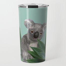 Koala Bear between Agave leaves Travel Mug