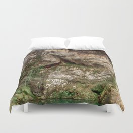 The Holy Cave of Covadonga Duvet Cover