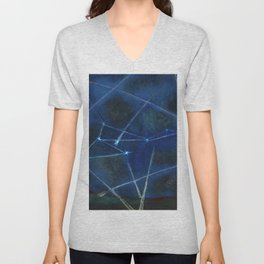 Heavenly Bodies, Stars, Constellations, & Milky Way landscape painting by Rufino Tamayo Unisex V-Neck