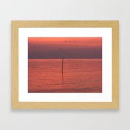 Alone in the Gulf Framed Art Print