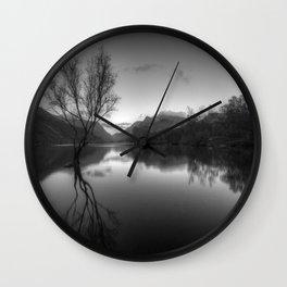 Tree Lake Wall Clock