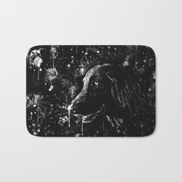 black labrador retriever dog wsbw Bath Mat