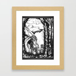 Putting Down Roots - Illustration Framed Art Print