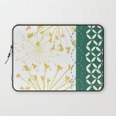 Boho dandelion green and yellow Laptop Sleeve