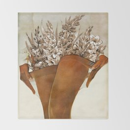Gladiolous Throw Blanket