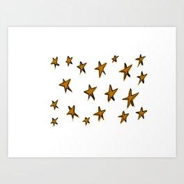 Bronzed stars Art Print