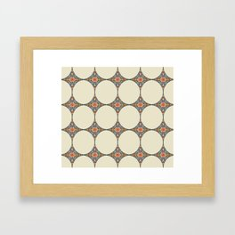 Mandala Diamonds Framed Art Print