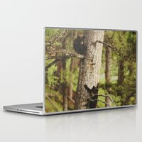 climbing Laptop & iPad Skins featuring Climbing Cubs by Kevin Russ