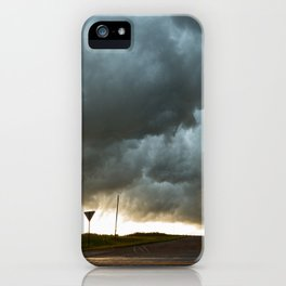 Storm Cloud Over Country Road iPhone Case