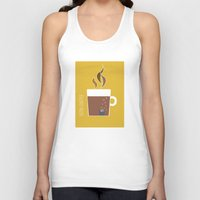 70s Tank Tops featuring 70s Coffee by Morgane Cazaubon
