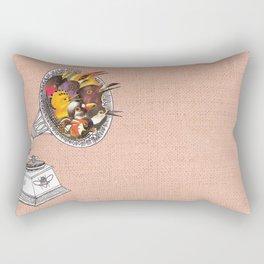 Bird Gramophone Cover Art Rectangular Pillow