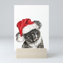 Christmas Baby Koala Mini Art Print