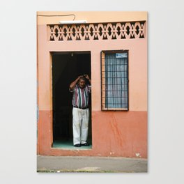 Doorway Man Canvas Print