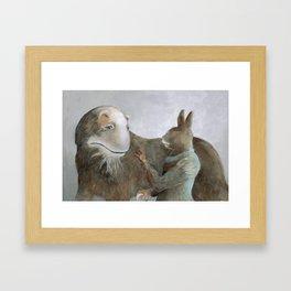 Creature and Healer Framed Art Print