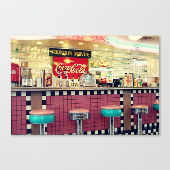 retro diner canvas print by sylvia cook photography society6