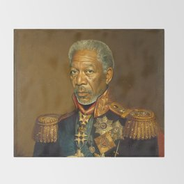 Morgan Freeman - replaceface Throw Blanket