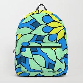 Yellow Flower Mandala Backpack