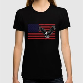 American flag july 4th Flag Day Eagle salute t shirt T-shirt