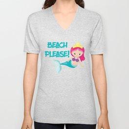 Beach Please Unisex V-Neck