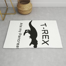 Funny T-Rex Type 1 Diabetes Funny T1D Diabetic Rug