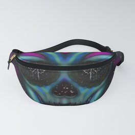 Pscychedelic Space Skull Fanny Pack