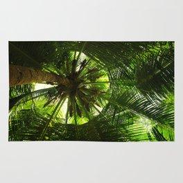 Green geometry Rug