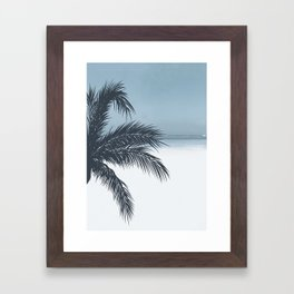 Palm and Ocean Framed Art Print