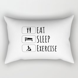 Eat Sleep exercise, Gift for Sport Lovers, Workout, Training Quote Rectangular Pillow