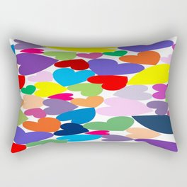 Random hearts Rectangular Pillow