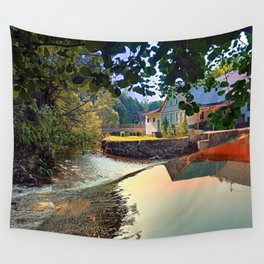 Nature, a river and colorful reflections | waterscape photography Wall Tapestry