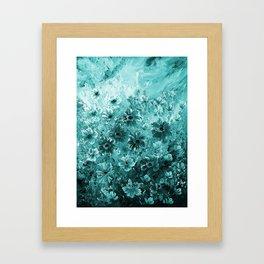 Rain wild flowers Framed Art Print