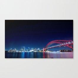 World Famous Sydney Harbour Bridge Australia Oceania Romantic Nightlife Ultra HD Canvas Print